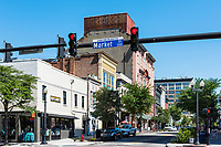 Front and Market Street, downtown Wilmington, North Carolina, USA.