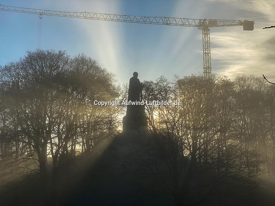 Bismarckdenkmal Baustelle 25.12.2020: Bismarckdenkmal Baustelle