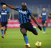 Calcio, Serie A: Inter Milano - Juventus FC , Giuseppe Meazza (San Siro) stadium, in Milan, January 17, 2021.<br /> Inter's Romelu Lukaku in action during the Italian Serie A football match between Inter and juventus at Giuseppe Meazza (San Siro) stadium, January 17,  2021.<br /> UPDATE IMAGES PRESS/Isabella Bonotto