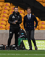 Fulham First Team CoachMatt Wells (left) and manager Scott Parker (right) <br /> <br /> Photographer David Horton/CameraSport<br /> <br /> The Premier League - Wolverhampton Wanderers v Fulham - Sunday 4th October 2020 - Molineux Stadium - Wolverhampton<br /> <br /> World Copyright © 2020 CameraSport. All rights reserved. 43 Linden Ave. Countesthorpe. Leicester. England. LE8 5PG - Tel: +44 (0) 116 277 4147 - admin@camerasport.com - www.camerasport.com