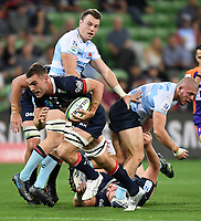 19th March 2021; Melbourne Rectangular Stadium, Melbourne, Victoria, Australia; Australian Super Rugby, Melbourne Rebels versus New South Wales Waratahs; Joshua Kemeny of the Rebels breaks free with the ball