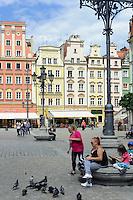 Giebelhäuser am Marktplatz (Rynek Glowny) in Wroclaw (Breslau), Woiwodschaft Niederschlesien (Województwo dolnośląskie), Polen, Europa<br /> Gable houses at Marketplace (Rynek Glowny) in Wroclaw,  Poland, Europe