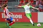 Atletico de Madrid's Carmen Menayo (l) and VfL Wolfsburg's Sara Bjork Gunnarsdottir during UEFA Womens Champions League 2017/2018, 1/16 Final, 1st match. October 4,2017. (ALTERPHOTOS/Acero)