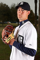 February 27, 2010:  Pitcher Rick Porcello (48) of the Detroit Tigers poses for a photo during media day at Joker Marchant Stadium in Lakeland, FL.  Photo By Mike Janes/Four Seam Images