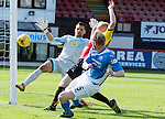 Partick Thistle v St Johnstone…10.09.16..  Firhill  SPFL<br />Steven Anderson scores to put saints 1-0 up<br />Picture by Graeme Hart.<br />Copyright Perthshire Picture Agency<br />Tel: 01738 623350  Mobile: 07990 594431