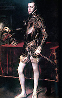 Visual Arts:  Philip II of Spain as a young king--Titian, an Italian painter.  Photo '78.