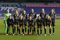 team od Anderlecht with goalkeeper Lowiese Seynhave (1) of Anderlecht   Tessa Wullaert (27) of Anderlecht   Amber Maximus (9) of Anderlecht   Britt Vanhamel (4) of Anderlecht   Tine De Caigny (6) of Anderlecht   Laura De Neve (8) of Anderlecht   Mariam Abdulai Toloba (19) of Anderlecht   Charlotte Tison (20) of Anderlecht   Laura Deloose (14) of Anderlecht   Stefania Vatafu (10) of Anderlecht   Silke Leynen (17) of Anderlecht   pictured during a female soccer game between RSC Anderlecht Dames and White Star Woluwe on the 18 th and last matchday before the play offs of the 2020 - 2021 season of Belgian Womens Super League , saturday 27 th of March 2021  in Brussels , Belgium . PHOTO SPORTPIX.BE | SPP | DIRK VUYLSTEKE
