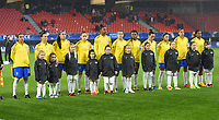 20200304 Valenciennes , France : Brazilian team with Brazilian goalkeeper Aline Reis (12)   Brazilian Luana (23)   Brazilian Antonia (3)   Brazilian Daiane (14)   Brazilian Jucinara (20)   Brazilian Thaisa (5)   Brazilian Andressa A. (7)   Brazilian  Formiga (8)   Brazilian Debinha (9)  Brazilian Marta (10)   Brazilian Ludmila (19)     pictured during the female football game between the national teams of The Netherlands and Brasil on the first matchday of the Tournoi de France 2020 , a prestigious friendly womensoccer tournament in Northern France , on wednesday 4 th March 2020 in the Stade du Hainaut of Valenciennes , France . PHOTO SPORTPIX.BE | DIRK VUYLSTEKE