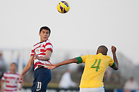 The U.S. Under-17 Men's National Team opened the 2012 Nike International Friendlies with a 4-4 draw against Brazil's U-17 MNT on Wednesday Nov. 28, 2012 at Premier Sports Campus in Lakewood Ranch, Fla.