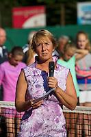 Netherlands, Dordrecht, August 03, 2015, Tennis,  National Junior Championships, NJK, TV Dash 35, Opening ceremony, Claudia van Heelsbergen<br /> Photo: Tennisimages/Henk Koster