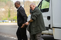 "Pictured: Kenneth Male (R) arrives at Merthyr Crown Court.<br /> Re: A predatory paedophile was jailed for 12 years by Merthyr Crown Court for a series of historic sex offences on an innocent schoolgirl in Wales, UK.<br /> Kenneth Male was in his forties and a ""Good Samaritan"" in his community when he started grooming the girl who was just 10 at the time.<br /> But a jury found him guilty and he was jailed for 11 years  and given an extended sentence of one year when he was sentenced at Merthyr Tydfil Crown Court.<br /> Male, now 61, treated her with trips to Barry Island, sweets and other confectionery in a bid to earn her trust of the girl and the blessing of her parents."