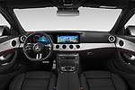 Stock photo of straight dashboard view of 2021 Mercedes Benz E-Class AMG-Line 5 Door Wagon Dashboard