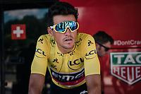 Greg Van Avermaet (BEL/BMC) warming up before the grueling stage ahead<br /> <br /> Stage 11: Albertville > La Rosière / Espace San Bernardo (108km)<br /> <br /> 105th Tour de France 2018<br /> ©kramon