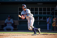 Mississippi Braves shortstop Dansby Swanson (36) at bat during a game against the Jacksonville Suns on May 1, 2016 at The Baseball Grounds in Jacksonville, Florida.  Jacksonville defeated Mississippi 3-1.  (Mike Janes/Four Seam Images)