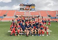 Houston, TX - Thursday Oct. 06, 2016: Washington Spirit team photo during media day prior to the National Women's Soccer League (NWSL) Championship match between the Washington Spirit and the Western New York Flash at BBVA Compass Stadium.