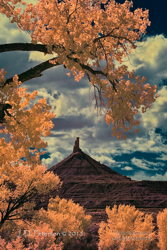Six Shooter Peak with Cottonwoods, Utah (Infrared)