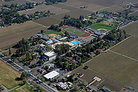 aerial photograph of St. Helena High School, St. Helena, Napa County, California