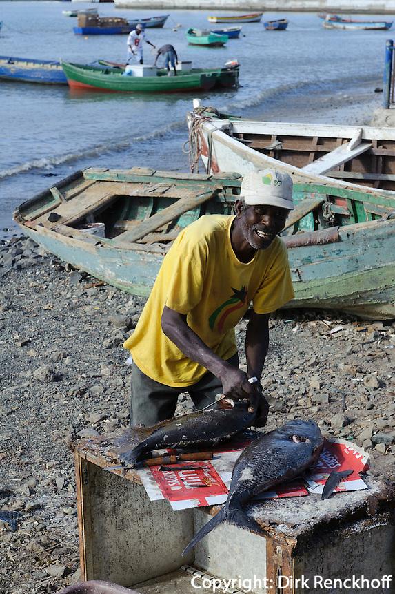 Fischer in Mindelo, Sao Vicente, Kapverden, Afrika