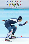 Junho Kim of South Korea compete during the Speed Skating as part of the 2014 Sochi Olympic Winter Games at Adler Arena on February 10, 2014 in Sochi, Russia. Photo by Victor Fraile / Power Sport Images