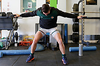Ealing Trailfinders RFC warm up during the Championship Cup Quarter Final match between Ealing Trailfinders and Nottingham Rugby at Castle Bar , West Ealing , England  on 2 February 2019. Photo by Carlton Myrie / PRiME Media Images.
