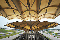 Track ambiance from grandstand .24/03/2012 Grand Prix Malesia, Sepang , Essais..Foto Insidefoto  /Bernard Asset / Panoramic.ITALY ONLY..