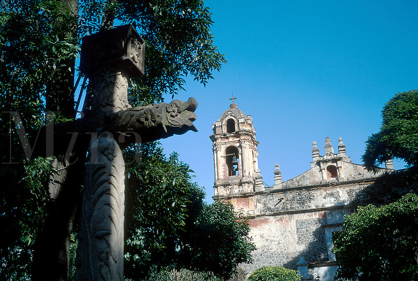 San Jacinto church in the Mexican district of Coyocan. Mexico City.