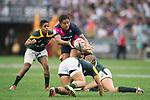 South Africa vs Japan during the Women's Cup Final as part of the HSBC Hong Kong Rugby Sevens 2017 on 07 April 2017 in Hong Kong Stadium, Hong Kong, China. Photo by Marcio Rodrigo Machado / Power Sport Images