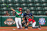 ABERDEEN, MD - AUGUST 01: Victor Sanchez #13 of Mexico watches his hit on a three run RBI single against Canada in a game between Mexico and Canada during the Cal Ripken World Series at The Ripken Experience Powered by Under Armour on August 1, 2016 in Aberdeen, Maryland. (Photo by Ripken Baseball/Eclipse Sportswire/Getty Images)