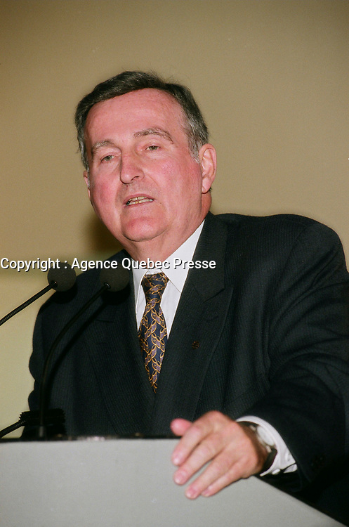 May 13 1999 File Photo, Pierre Bourque, Mayor of Montreal.