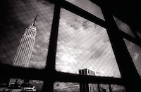 Empire State Building through window<br />