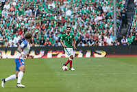 Mexico City, Mexico - Sunday June 11, 2017: Oswaldo Alanís during a 2018 FIFA World Cup Qualifying Final Round match with both men's national teams of the United States (USA) and Mexico (MEX) playing to a 1-1 draw at Azteca Stadium.