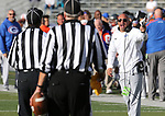 Bishop Gorman head coach Kenny Sanchez draws an unsportsmanlike penalty after yelling at the referees in the NIAA 4A state championship football game in Reno, Nev., on Saturday, Dec. 2, 2017. Gorman won 48-7. Cathleen Allison/Las Vegas Review Journal @NVMomentum