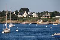 Europe/France/Bretagne/56/Morbihan/Golfe du Morbihan/Lamor-Baden: Bateaux et maisons
