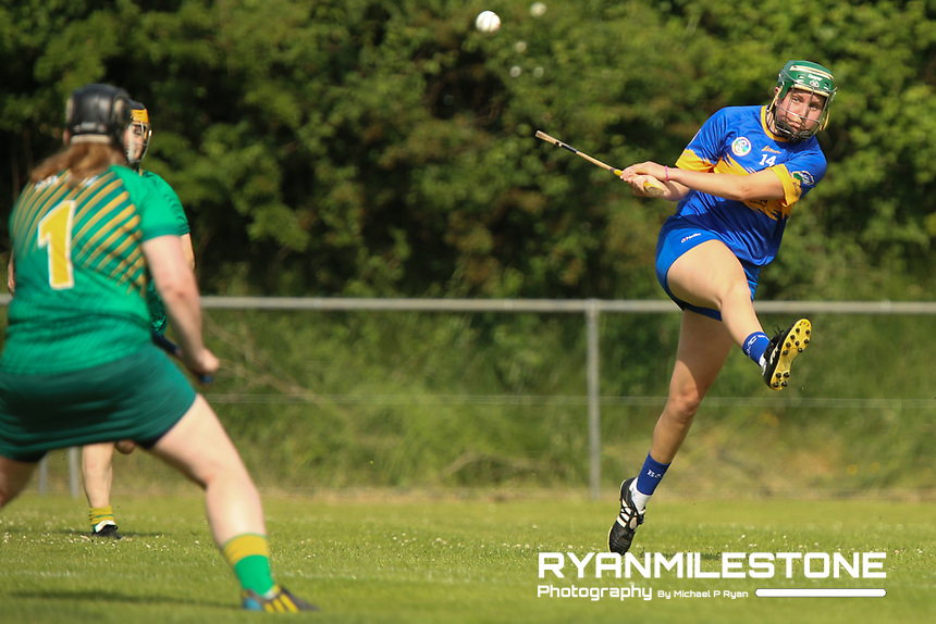 Tipperary's Cait Devane scores a goal during the Liberty Insurance All Ireland Senior Camogie Championship Round 1 between Tipperary and Meath at the Ragg, Co Tipperary. Photo By Michael P Ryan.