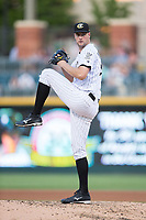 Charlotte Knights starting pitcher Chris Volstad (41) in action against the Durham Bulls at BB&T BallPark on May 15, 2017 in Charlotte, North Carolina. The Knights defeated the Bulls 6-4.  (Brian Westerholt/Four Seam Images)