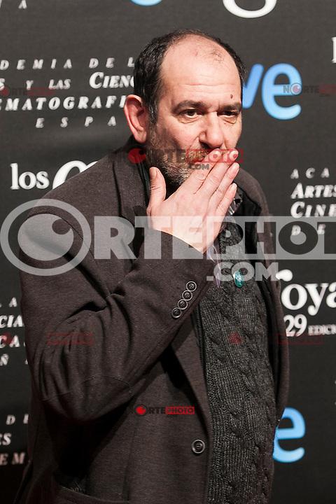 Karra Elejalde poses before the 2015 Goya Awards nominee ceremony in Madrid, Spain. January 19, 2015. (ALTERPHOTOS/Victor Blanco)