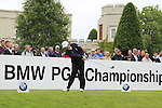 Damien McGrane (IRL) tees off on the 1st tee to start his round on Day 2 of the BMW PGA Championship Championship at, Wentworth Club, Surrey, England, 27th May 2011. (Photo Eoin Clarke/Golffile 2011)