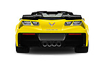 Straight rear view of 2018 Chevrolet Corvette Z06-3LZ 2 Door Convertible Rear View  stock images