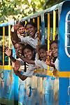 children, at ,mini ,railroad ,amusement, park , miniature ,