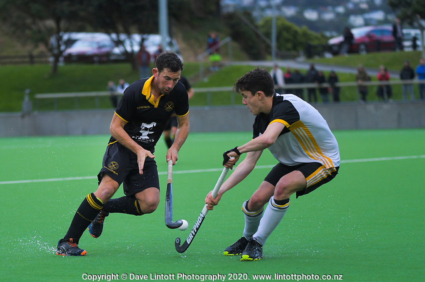 Action from the men's premier one Wellington Hockey final between Dalefield and Harbour City at National Hockey Stadium in Wellington, New Zealand on Saturday, 26 September 2020. Photo: Dave Lintott / lintottphoto.co.nz