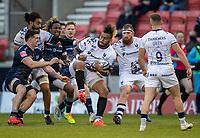 28th May 2021; AJ Bell Stadium, Salford, Lancashire, England; English Premiership Rugby, Sale Sharks versus Bristol Bears; Nathan Hughes of Bristol Bears catches the ball