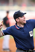 June 12th 2008:  Third base umpire Chris Conroy ejects Blaine Neal of the Toledo Mudhens, Class-AAA affiliate of the Detroit Tigers, during a game at Fifth Third Field in Toledo, OH.  Neal argued a call after Larry Parrish and Mike Hessman were both ejected.  Photo by:  Mike Janes/Four Seam Images