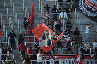 WASHINGTON, DC - MAY 13: D.C. United Fans cheering for the team during a game between Chicago Fire FC and D.C. United at Audi FIeld on May 13, 2021 in Washington, DC.