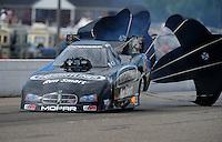 Aug. 20, 2011; Brainerd, MN, USA: NHRA funny car driver Matt Hagan during qualifying for the Lucas Oil Nationals at Brainerd International Raceway. Mandatory Credit: Mark J. Rebilas-