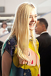 """Elle Fanning, Jun 21, 2014 : Tokyo, Japan : Actress Elle Fanning arrives at Narita International Airport in Chiba Prefecture, Japan, on June 21, 2014. Fanning comes to Japan for the first time to attend the Japan Premier of the movie """"Maleficent"""", which will be released on July 5th. (Photo by Rodrigo Reyes Marin/AFLO)"""