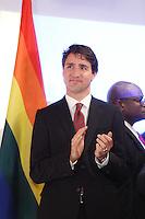 le premier ministre Justin Trudeau  prononce une allocution à l'occasion de la cérémonie de remise du prix Laurent-McCutcheon de la fondation emergence, lundi le 11 mai 2016.<br /> <br /> <br /> The Prime Minister Justin Trudeau deliver remarks at the Laurent-McCutcheon Award Ceremony, Monday May 16, 2016,<br /> <br /> PHOTO :  Agence Quebec Presse