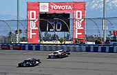 #18: Kyle Busch, Joe Gibbs Racing, Toyota Supra iK9 and #00: Cole Custer, Stewart-Haas Racing, Ford Mustang Thompson Pipe/Haas CNC
