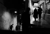 Teheran, Iran, March 21, 2007.Night street scene.