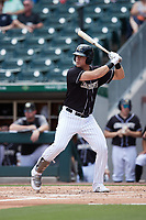 Gavin Sheets (24) of the Charlotte Knights at bat against the Durham Bulls at Truist Field on August 28, 2021 in Charlotte, North Carolina. (Brian Westerholt/Four Seam Images)