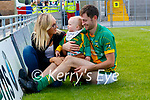Maura Walsh with James and baby Seamus Godley at the Kerry Senior Hurling Championship Final on Sunday in Austin Stack Park.